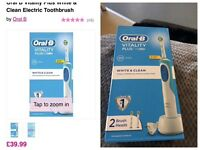brand new oral b vitality plus white&clean electric toothbrush