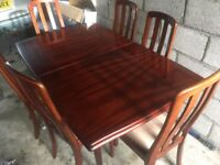 Dining table & 6 chairs - ideal for Christmas lunch!!!