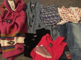 Girls 7-8 clothes/shoe bundle