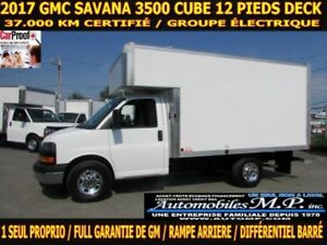 2017 GMC Savana 3500 DECK AVANT 37.000 KM GROUPE ?LECTRIQUE