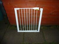 Lindam pressure fit stair gate.