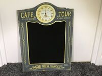 Cafe tour chalk board