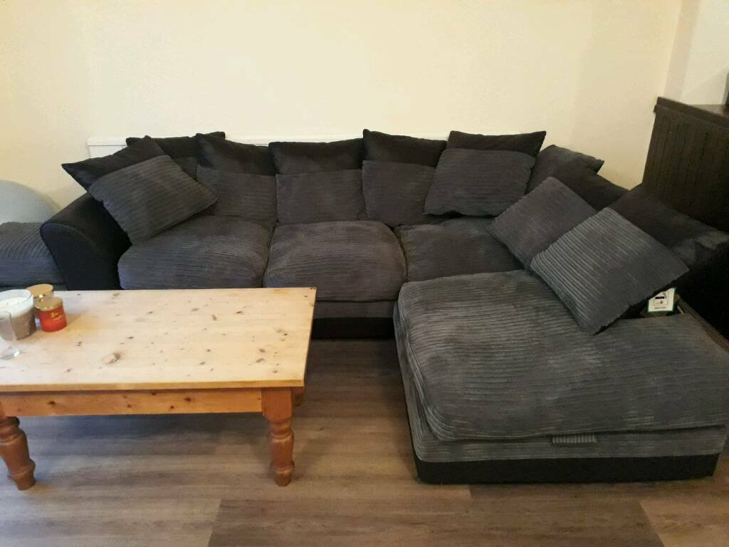 Large Harley Right Hand Corner Sofa And Footstall Only 5 Months Old In Harwich