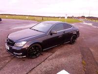 Mercedes C Class Coupe AMG Sport plus Auto 2dr, Excellent Condition