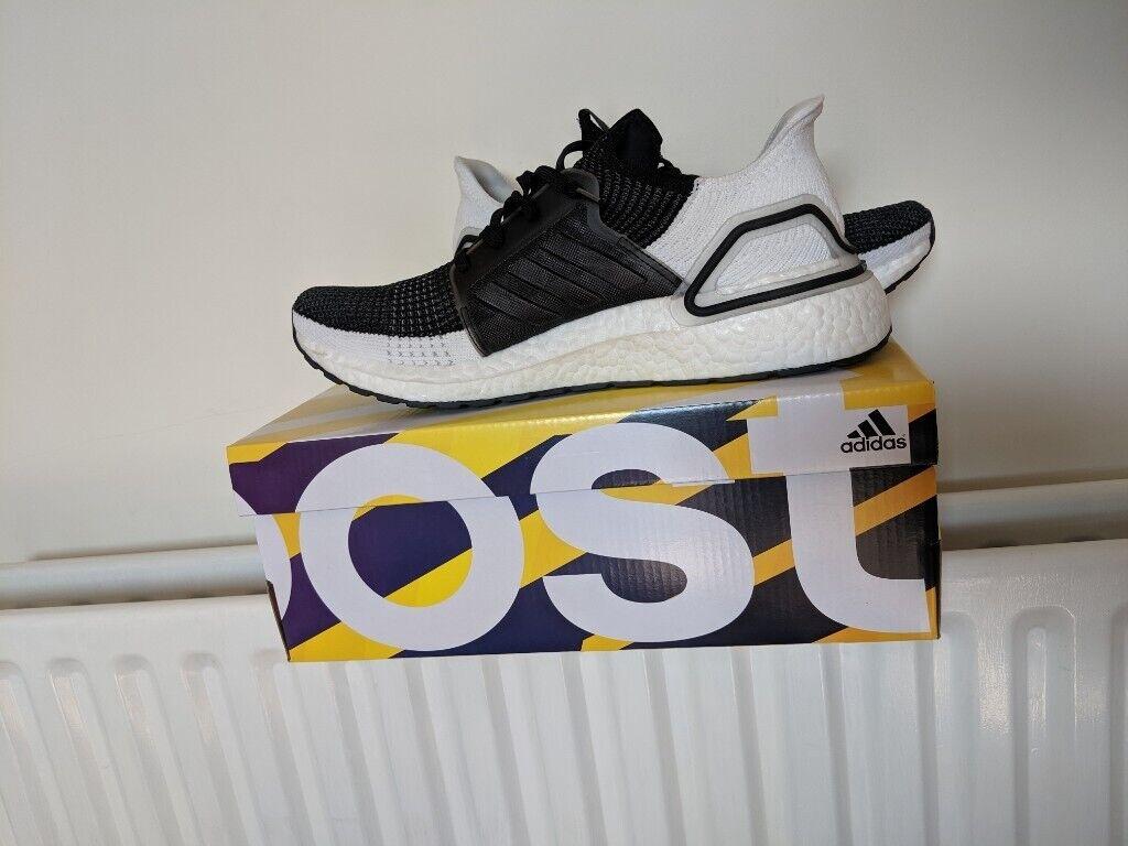 3cbe5f1b2 Mens UK 9.5 Black Adidas Ultraboost 19 BNWB CORE BLACK   GREY SIX   GREY  FOUR BNWB