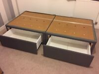 Single box beds with two draws
