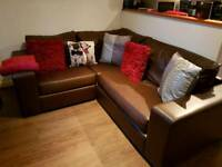 Good condition Brown corner sofa