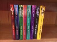 Set of Hero com & villain net books by Andy Briggs