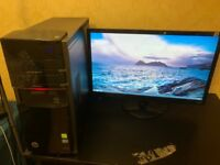 HP DESKTOP i7, 12 GB, 1T+3 TB, GTX 660, 21 inch screen