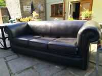 CHESTERFIELD STYLE SETTEE / BED SETEE BLACK £140 couch sofa