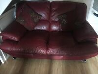 Deep Red 2x2 seater sofa