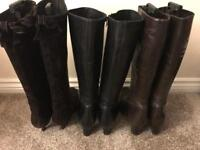 LK Bennett Leather Boots - 3 pairs for sale - all size 40