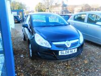 2008 Vauxhall corsa 1.3 diesel only £30 a year road tax ideal first car full MOT full history