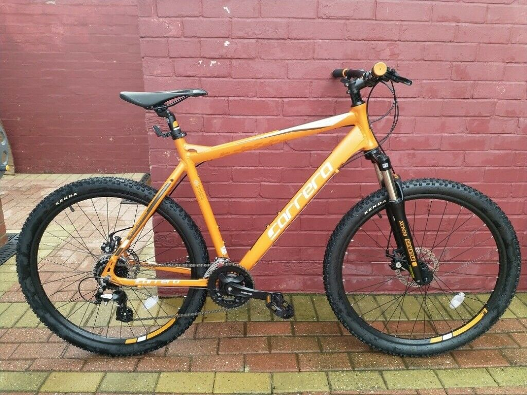 464b23c4507 Carrera Vengeance Mens Mountain Bike Large 22 inch Alloy Frame 24 Gears 27.5  inch Wheels, Halfords