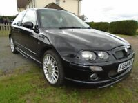 MG ZR 160 bhp.1800cc 3 DOOR 2004 (54) BLACK. 7mths MOT.QUITE RARE. NICE LOOKING