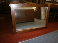 ***New*** ex-display large mirror in a lovely simple wooden frame