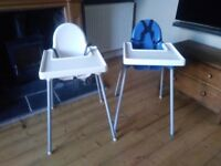 TWO IKEA HIGHCHAIRS