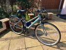 "Ladies Hybrid bike aluminium Apollo Virtue 700c (18"" alloy Frame) 18 Speed mudguards basket"