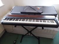 YAMAHA P-155 DIGITAL PIANO WITH FREE STAND & HARD CASE