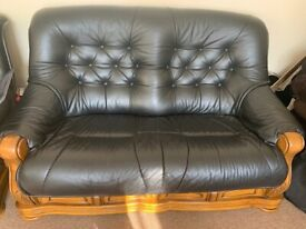 3 seater/2 seater/Armchair/Oak table set