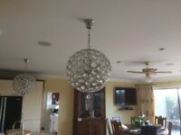 Crystal Style Ceiling Lights chandeliers type x 2 (Delivery Available)