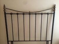 Double headboard - Matt black - good condition