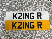 Private number plate king K21 NGR K21NG R Ron Rob Richard Robert Ryan Ring