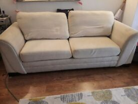 Free. Three seater sofa bed.