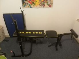 3-seat leather sofa and workout bench for sale