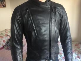 Harley Davidson FXRG leather motorbike jacket and gloves
