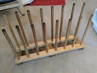 8 pair boot rack - solid wood