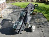 Kaddie Boy Golf Trolley & accessories