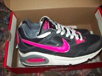 AIRMAX Trainers, size 4, excellent condition and in original box, pink/Grey/Black