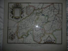 Saxton's Print of Northamptonshire and other counties