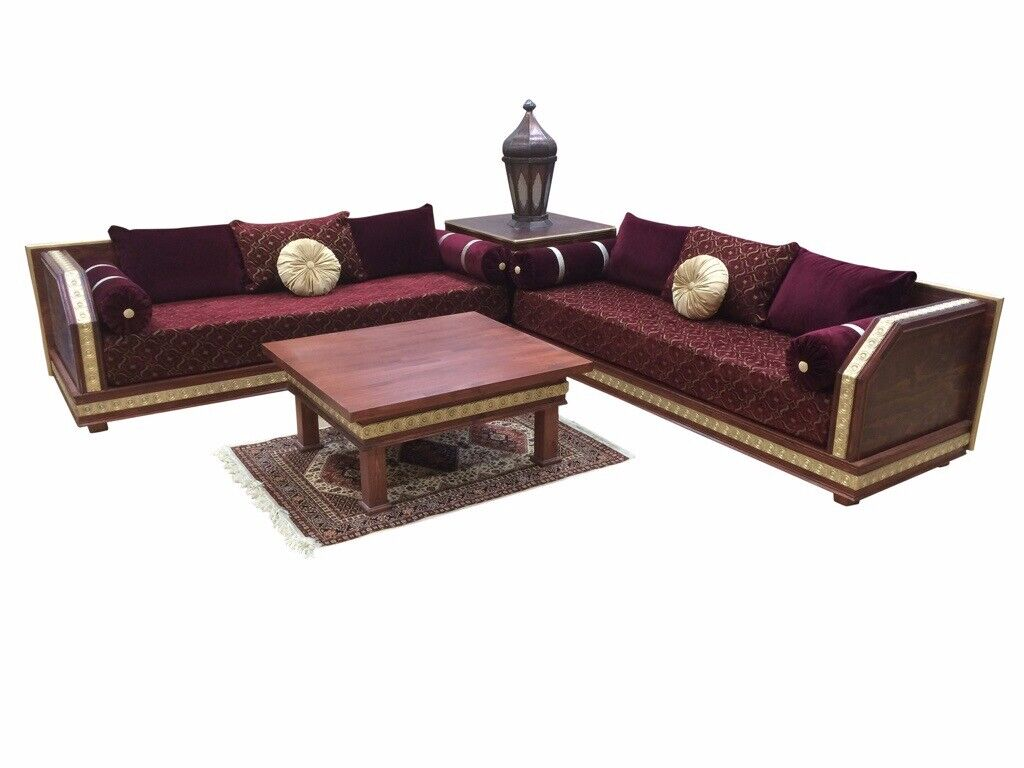 Surprising Luxurious Moroccan Sofa Couch Corner Suite Majlis Bench Daybed Floor Seating Arabian Seating In Ilford London Gumtree Customarchery Wood Chair Design Ideas Customarcherynet