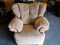 Beautiful cream armchair