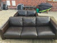 3 Seater And 2 Leather Sofa