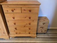 Pine draws and wardrobes