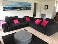Habitat Sidney corner sofa in 3 parts charcoal