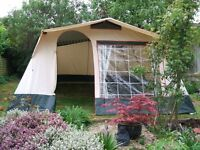 CABANON 6 BERTH FAMILY FRAME TENT IN VERY GOOD CONDITION.