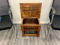 Small Solid Wood Rustic Side Table