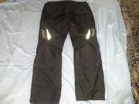 Ladies motorbike trousers all weather Size 20 short length with knee and hip padding worn twice