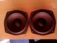 Pair Of Aiwa Speakers - 6 ohms