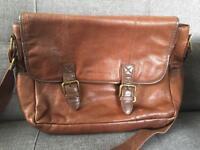 Tan leather satchel
