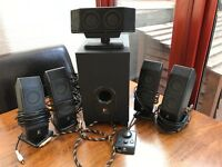 LOGITECH X-540 5.1 surround sound speakers - with digital to analogue converter and digital cable