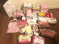 Baby girl bundle newborn and 0-3 months