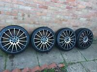 "17"" wolfrace alloy wheels - multifit 4 stud - Astra corsa polo vw civic alloys"