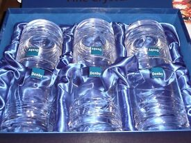 Set of 6 Denby crystal tumblers in gift box