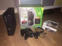 Xbox 360 250GB console + 2 controllers + 7 games