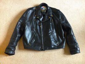 Motorcycle jacket Aero FQ horsehide black size 50.